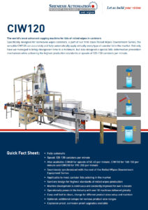 CIW120 Brochure capper machine